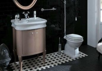 klassieke badkamer ontwerp, klassieke toilet hooghangen