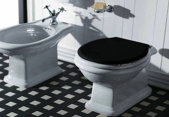 klassiek sanitair, klassieke toilet en bidet