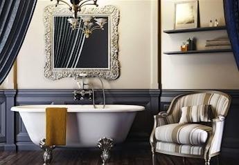 klassieke en landelijke badkamer, vrijstaande baden