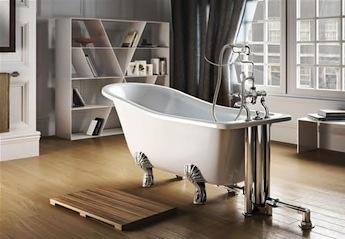 klassieke en landelijke badkamer, poten set voor vrijstaande baden