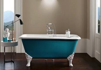 klassiek sanitair, vrijstaand gietijzeren bad