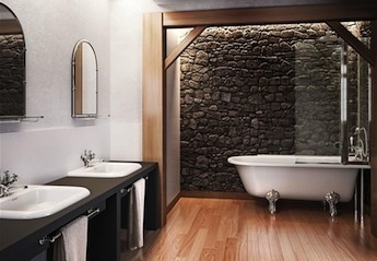 klassiek sanitair, wastafelkranen, landelijke inloopdouches