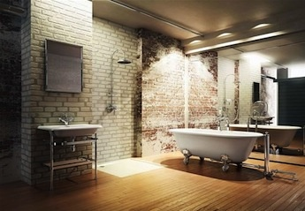 vrijstaand bad, klassieke badkamers