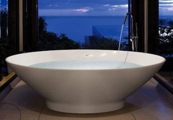 vrijstaand bad, landelijke badkamers