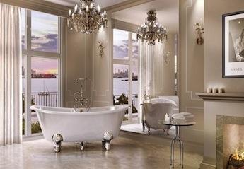 klassieke vrijstaand bad op pootjes
