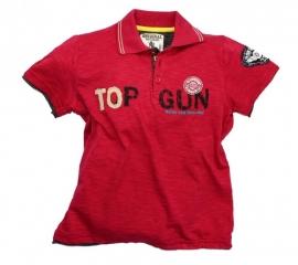 "Rood poloshirt ""Top Gun"""