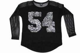 """Shirt """"54""""  zwart"""