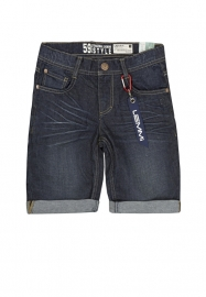 "Donkerblauwe Jeans bermuda ""Bob"" Big"