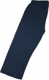 donkerblauwe capri legging met glitters