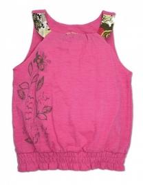 Roze top met elastische onderkant