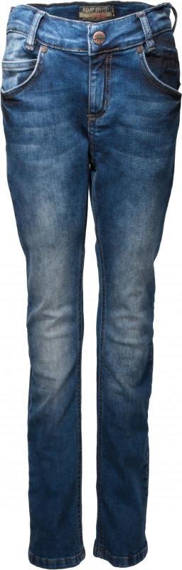"""Middelblauwe jeans """"Bas"""" used look"""