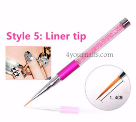 Crystal Penseel Liner Tip
