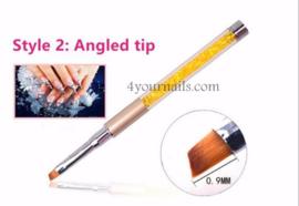 Crystal Penseel Angled Tip