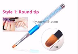 Crystal Penseel Round Tip