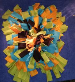 Snuffelmat Oranje/Blauw/Groen/Zwart 80 x 75 cm