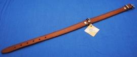 Bruin lederen halsband 65 cm (4156200)