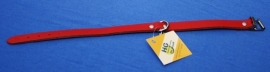 Rood lederen halsband 37 cm (4154850)