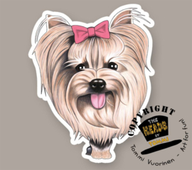 HEADS MAGNEET YORKSHIRE TERRIER