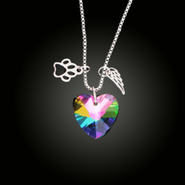 Rainbow Heart-Paw-Wing ketting