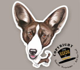 HEADS MAGNEET CARDIGAN WELSH CORGI