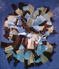 Snuffelmat Zwart/Grijs/Blauw 80 x 75 cm