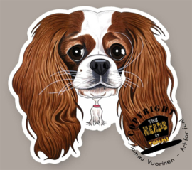 HEADS MAGNEET CAVALIER KING CHARLES SPANIEL