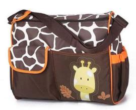 Luiertas Oranje Giraffe/ Hondenspullentas