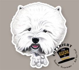 HEADS MAGNEET WEST HIGHLAND WHITE TERRIER
