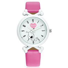 Horloge hond hard roze