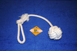 Touwbal wit met handvat