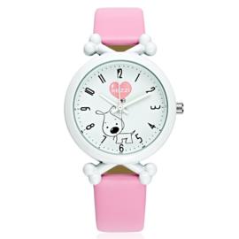 Horloge hond zacht roze