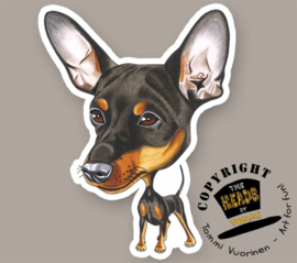HEADS MAGNEET MINIATURE PINSCHER