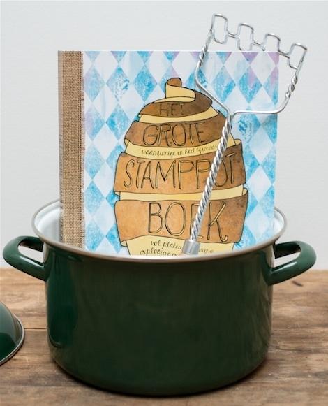 Stamppotpakket: boek + pan + stamper + tas