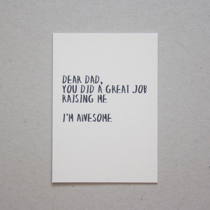 Quoteprent   Dear dad