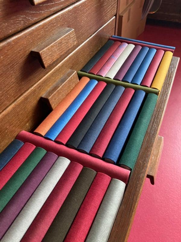 Notitieboek linnen | diverse kleuren