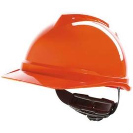 MSA V-Gard 500 veiligheidshelm met Fas-Trac ratchet Oranje (Geventileerd)