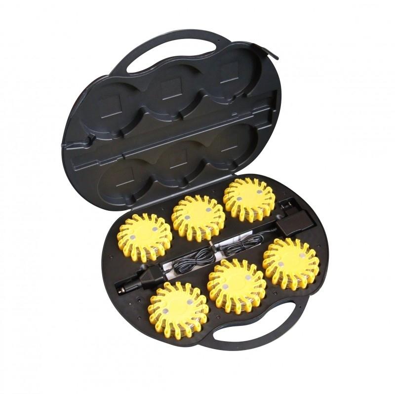 Combi Flare veiligheidsverlichting box 6 stuks geel - Rood licht