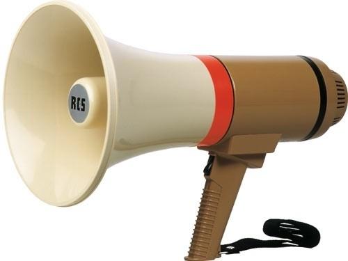 Megafoon met sirene