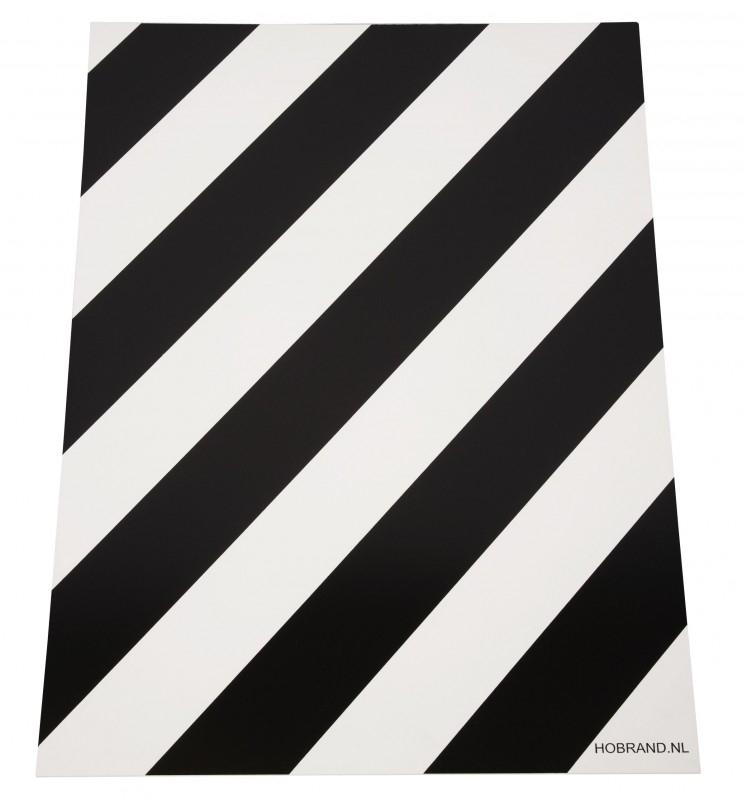 Blokkeerbord wit zwart