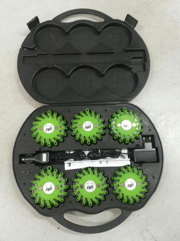 Combi Flare veiligheidsverlichting box 6 stuks - Groen licht