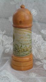 Oud reis parfumflesje in foedraal VERKOCHT