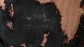 Oude Napoleon steek van papier maché VERKOCHT