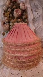 6 Oude roze lampenkapjes VERKOCHT