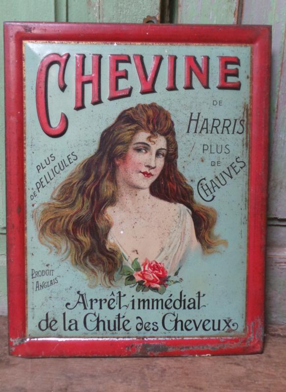 Heel oud reclameplaatje van blik VERKOCHT