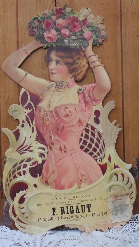 Oude Art Nouveau reclameplaat VERKOCHT