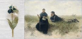 Kunst viooltje bedrukt met een Rijksmuseum schilderij