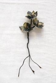 Takje met drie bloemetjes bedrukt met Rijksmuseum schilderij Lezende oude vrouw