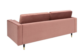 Elegante design 3-zitsbank COSY VELVET 225 cm oudroze fluwelen