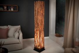 Vloerlamp NATURE ART 173 cm gemaakt van massief longan hout