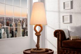 Maritieme tafellamp  SEAS 80cm touw tafellamp linnen kap